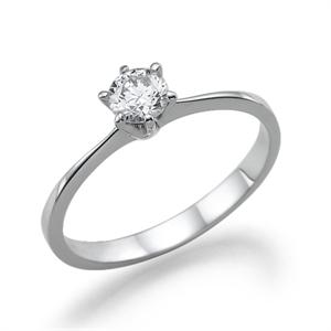 תמונה של טבעת יהלום 0.3 קראט עם יהלומים צדדיים 0.14 קראט